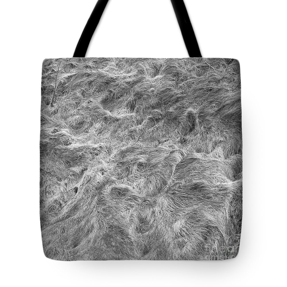 � Paul Davenport Tote Bag featuring the photograph Grass Wall 1 by Paul Davenport