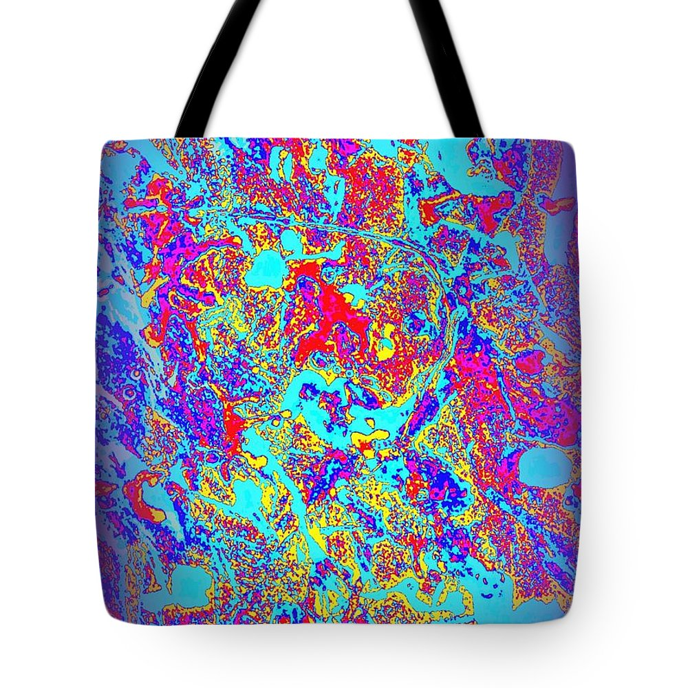 Canvas Abtract Tote Bag featuring the painting Grateful To Survive Past 65 by Mark Herman
