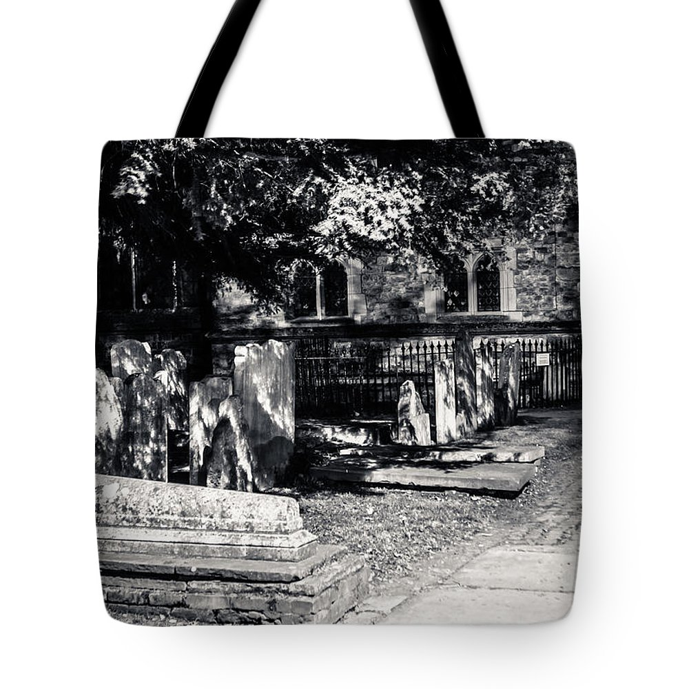 Graveyard Tote Bag featuring the photograph Graveyard by Dawn OConnor