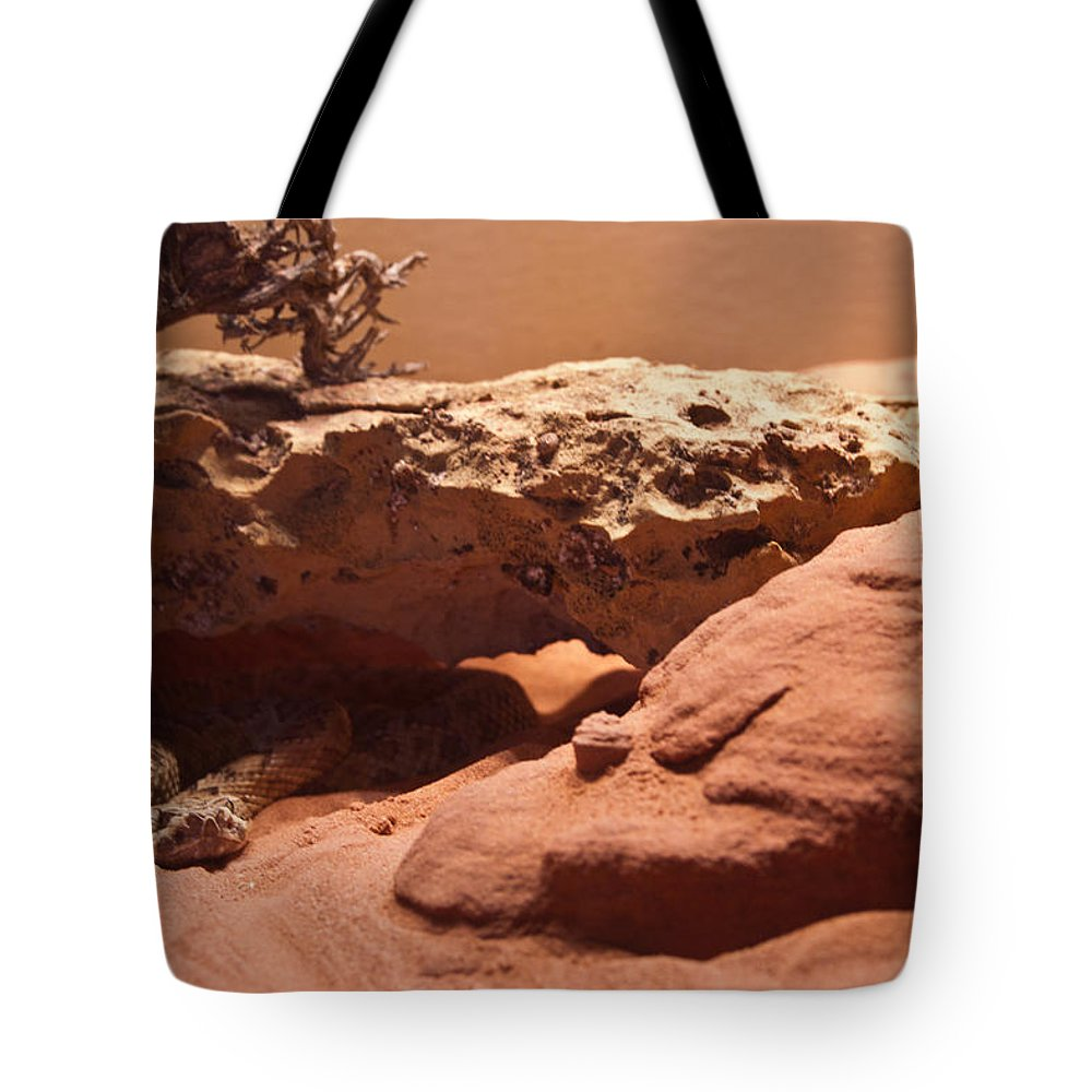 Reptile Tote Bag featuring the photograph Great Basin Rattlesnake by Douglas Barnett