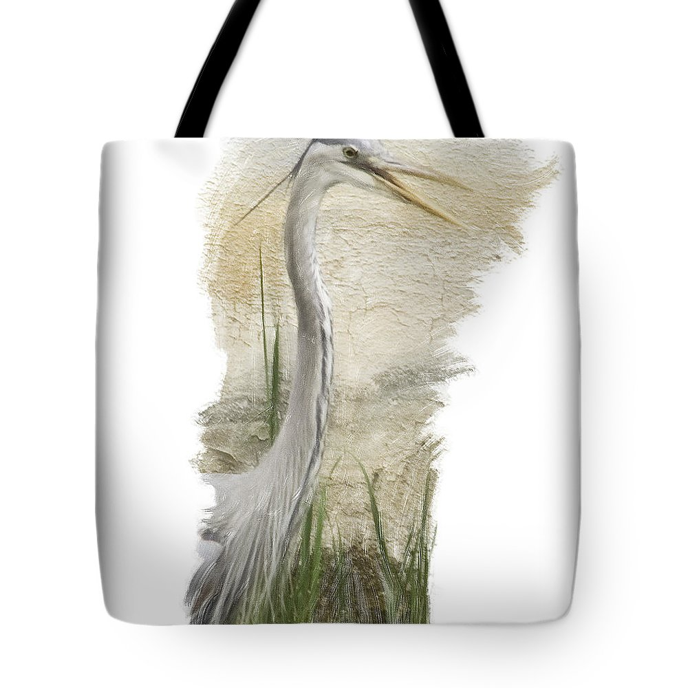 Great Blue Tote Bag featuring the photograph Great Blue by James Ekstrom