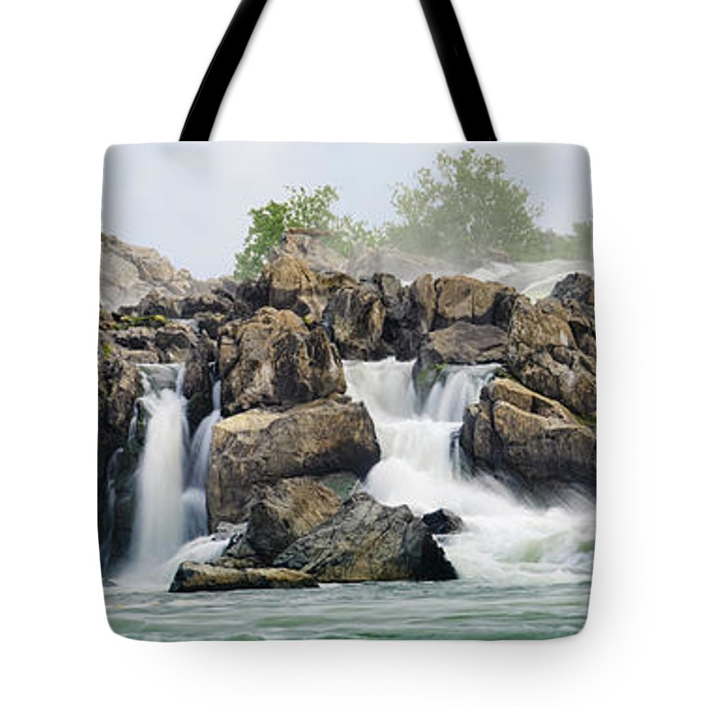 Scenics Tote Bag featuring the photograph Great Falls Panoramic by Ogphoto