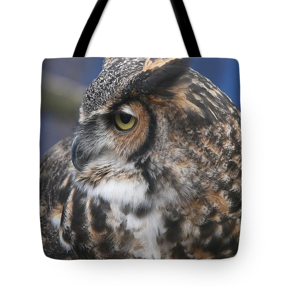 Great Horned Owl Tote Bag featuring the photograph Great Horned Owl by Ken Keener