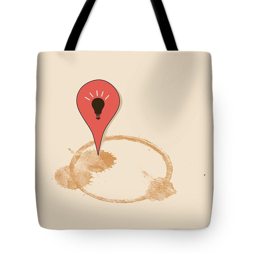 Coffee Tote Bag featuring the digital art Great Idea Begins Here by Neelanjana Bandyopadhyay