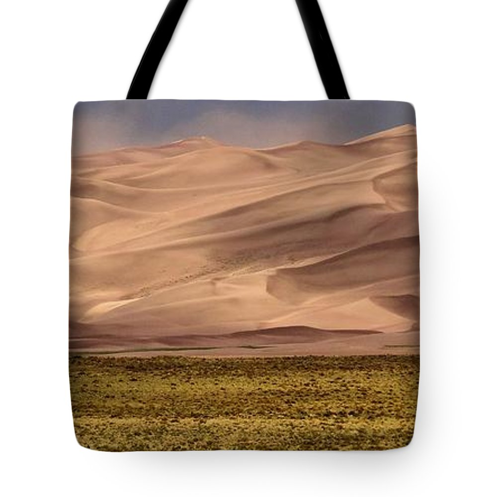 Great Sand Dunes In Colorado Tote Bag featuring the photograph Great Sand Dunes In Colorado by Dan Sproul