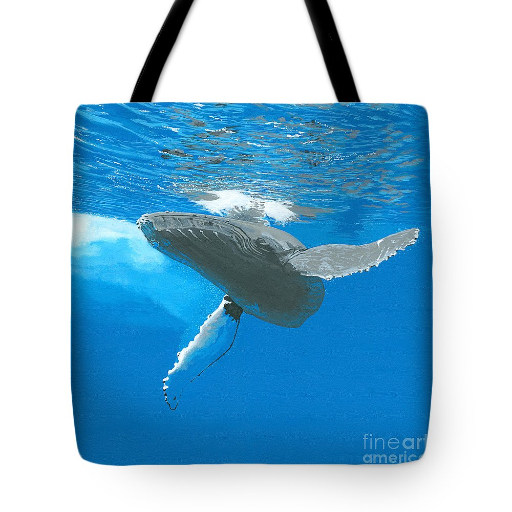 Whale Tote Bag featuring the painting Great Wings Of New England by Robert Timmons