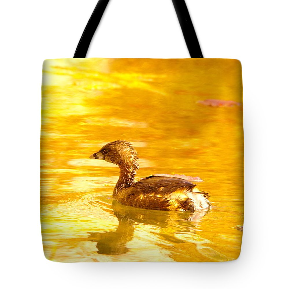 Birds Tote Bag featuring the photograph Greb by Jeff Swan