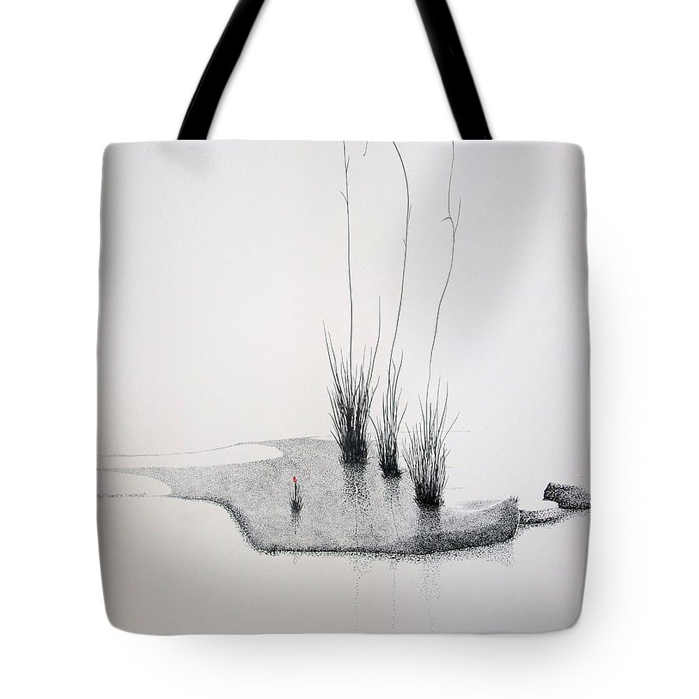 Landscape Tote Bag featuring the painting Greek Chorus by A Robert Malcom