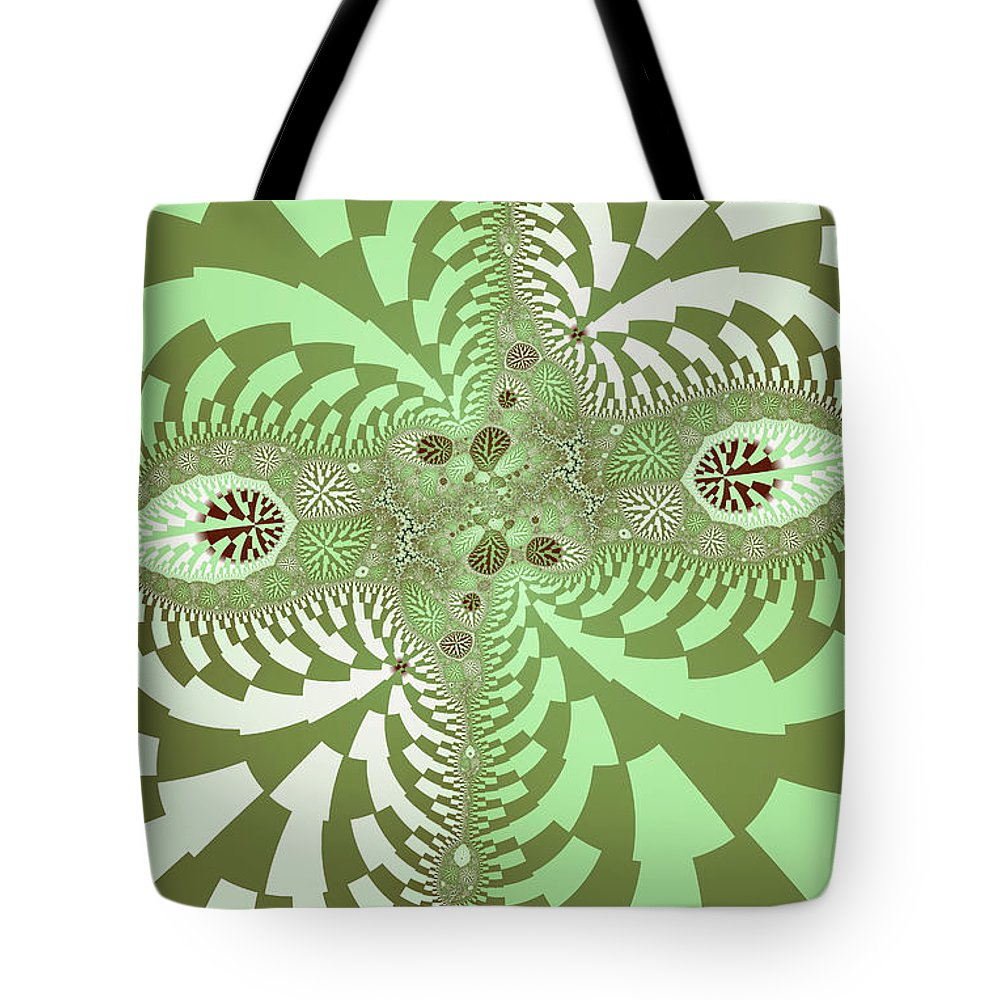 Abstract Tote Bag featuring the photograph Green Abstract by Paul Sale Vern Hoffman