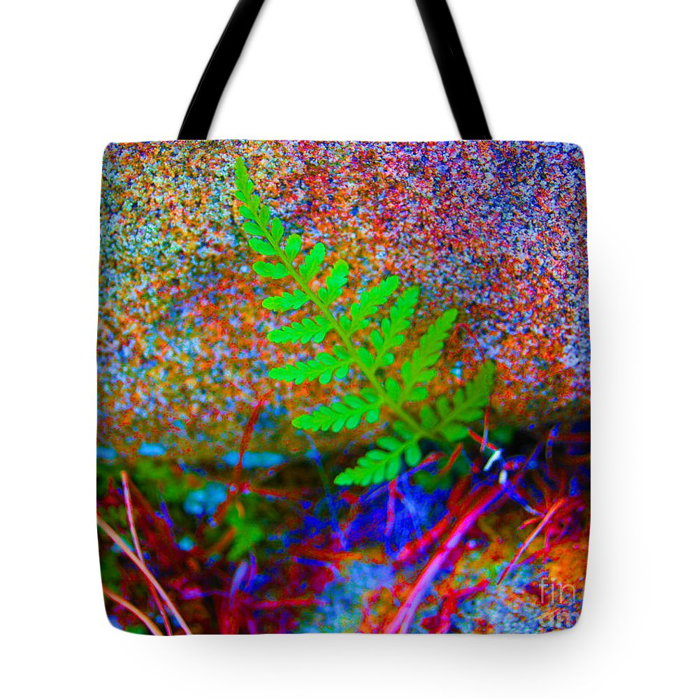 Surreal Tote Bag featuring the photograph Green - Against The Grain by Joe Geraci