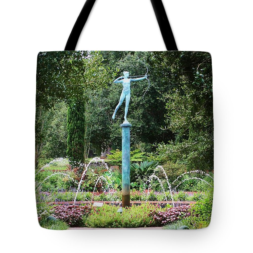 Archer Tote Bag featuring the photograph Green Archer by Chuck Hicks