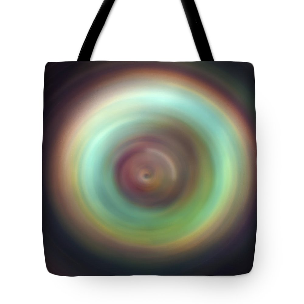 Universe Tote Bag featuring the photograph Green Aura Spint Art by Jennifer Rondinelli Reilly - Fine Art Photography