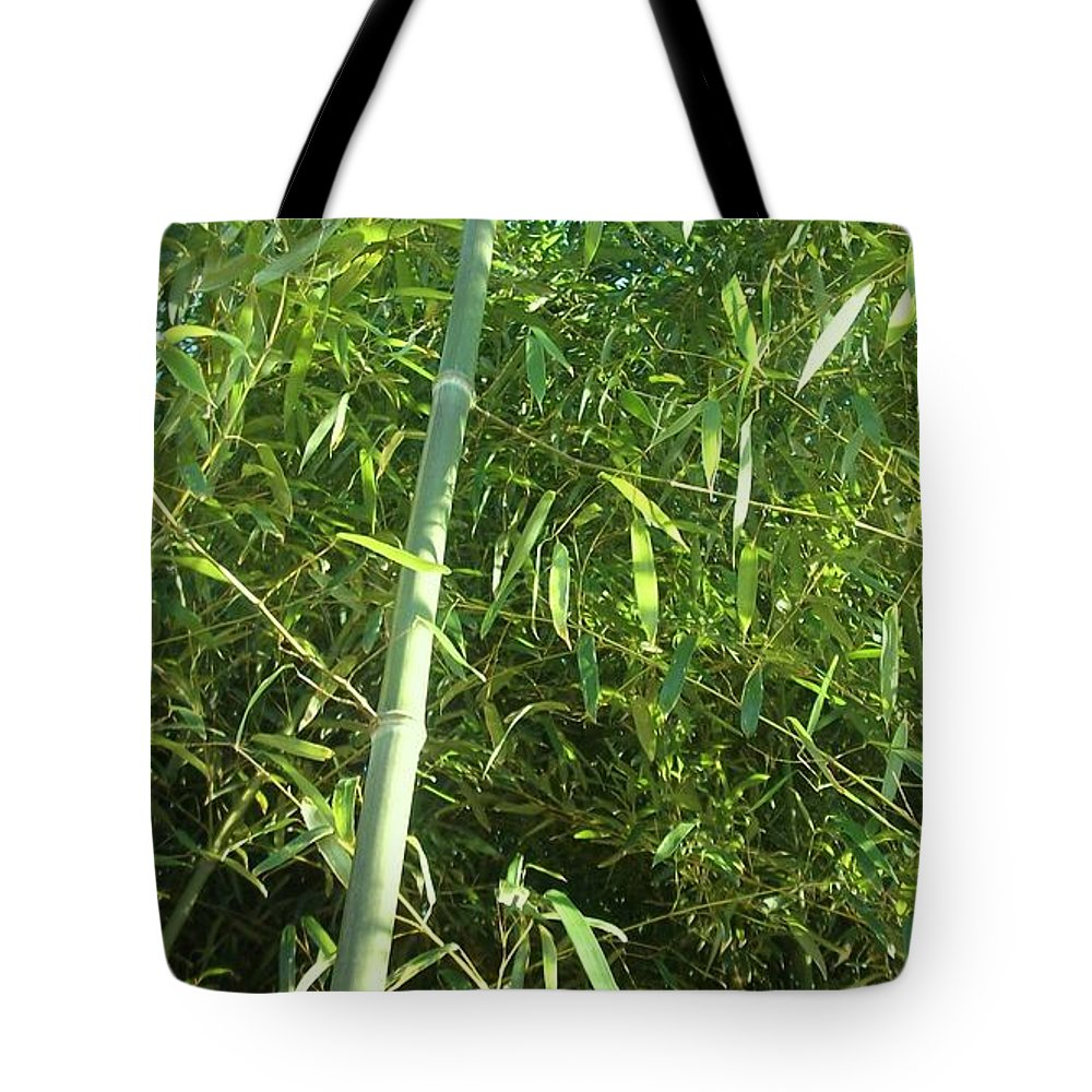 This Is A Photo Of Vibrant Green Bamboo Stalks Which Can Inspire One To Be Energetic Throughout The Day. Tote Bag featuring the photograph Green Bamboo by Michelle Caraballo