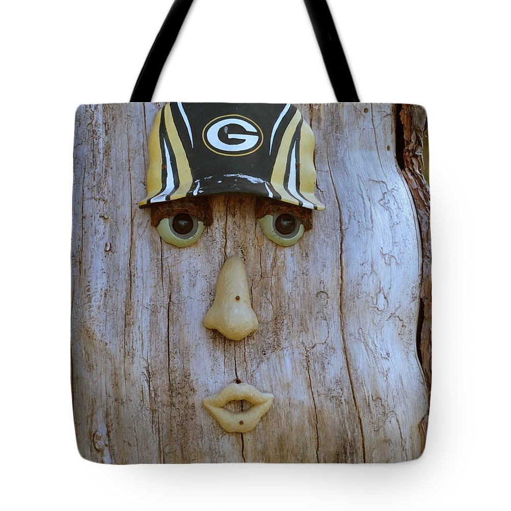 Green Bay Tote Bag featuring the photograph Green Bay Packer Humor by Kay Novy