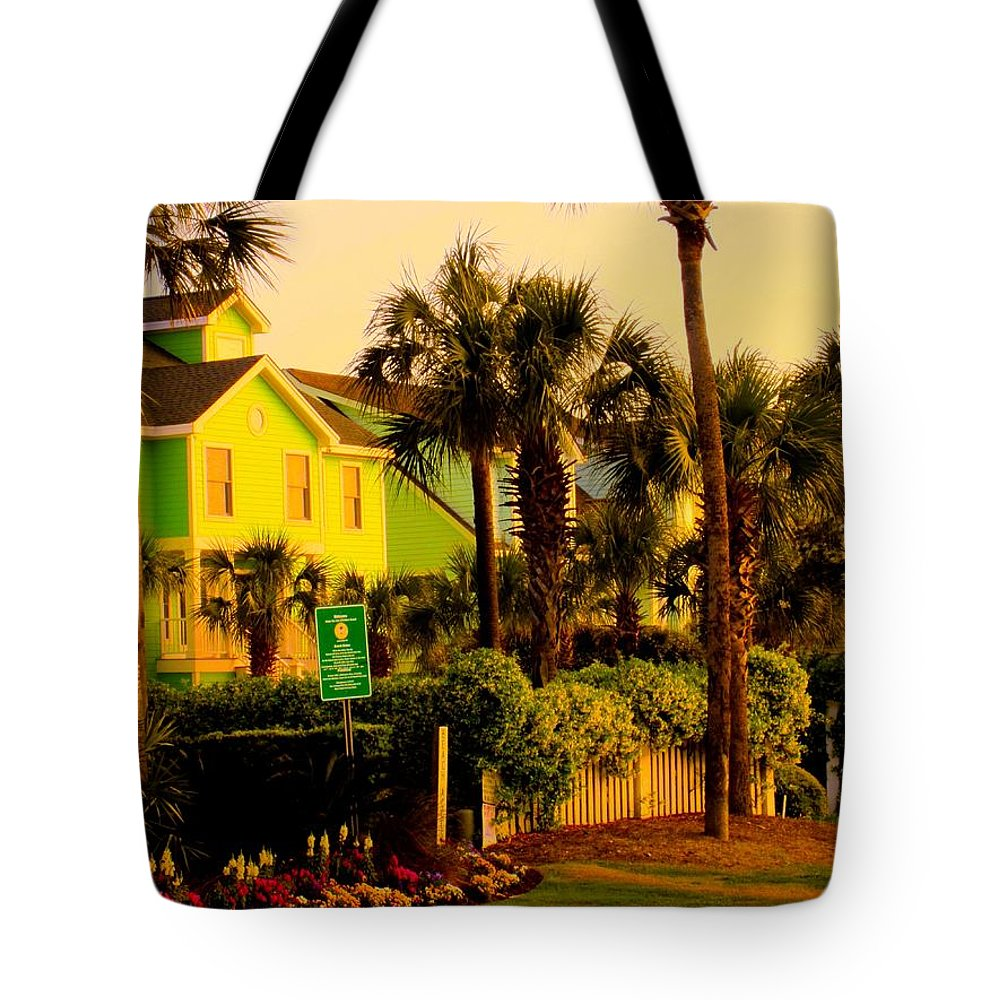 Kendall Kessler Tote Bag featuring the photograph Green Beauty At Isle Of Palms by Kendall Kessler