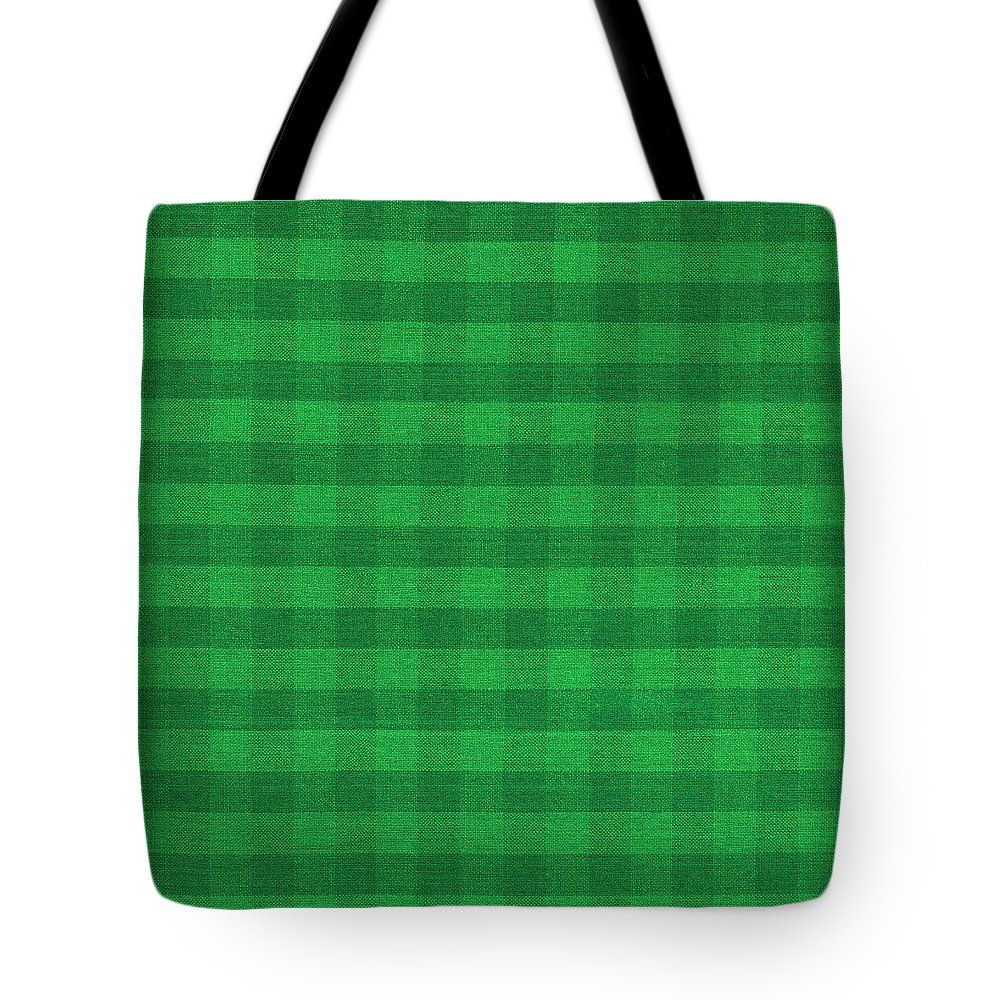 359a4c59910b Pattern Tote Bag featuring the photograph Green Checkered Pattern Cloth  Background by Keith Webber Jr