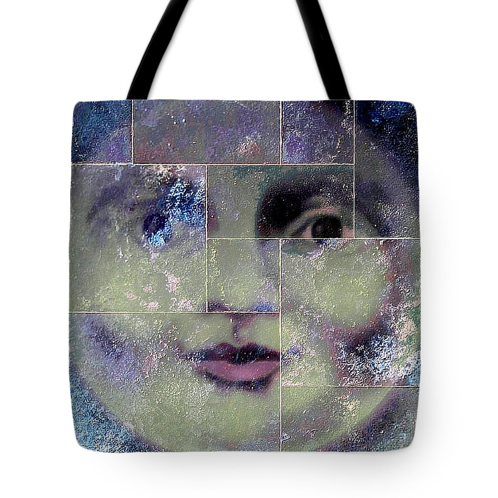 Outdoors Tote Bag featuring the digital art Green Cheese by John Madison