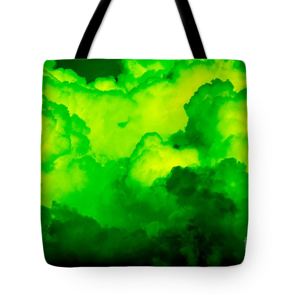 Clouds Tote Bag featuring the photograph Green Clouds by Kerstin Ivarsson
