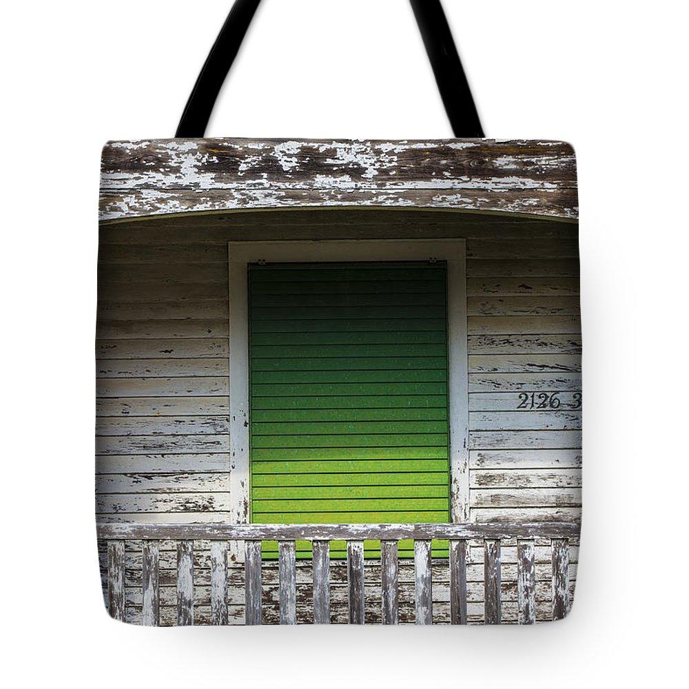 Galveston Tote Bag featuring the photograph Green Door Galveston Tx by John McGraw
