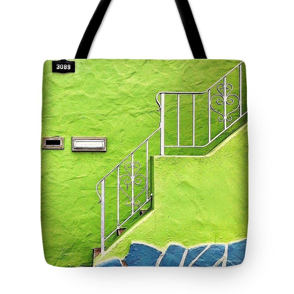 Green Tote Bag featuring the photograph Green House by Julie Gebhardt