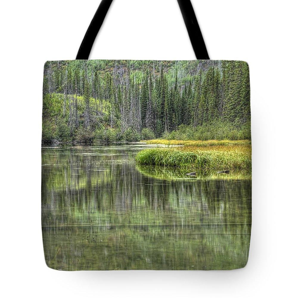 Green Tote Bag featuring the photograph Green Lake by Wanda Krack