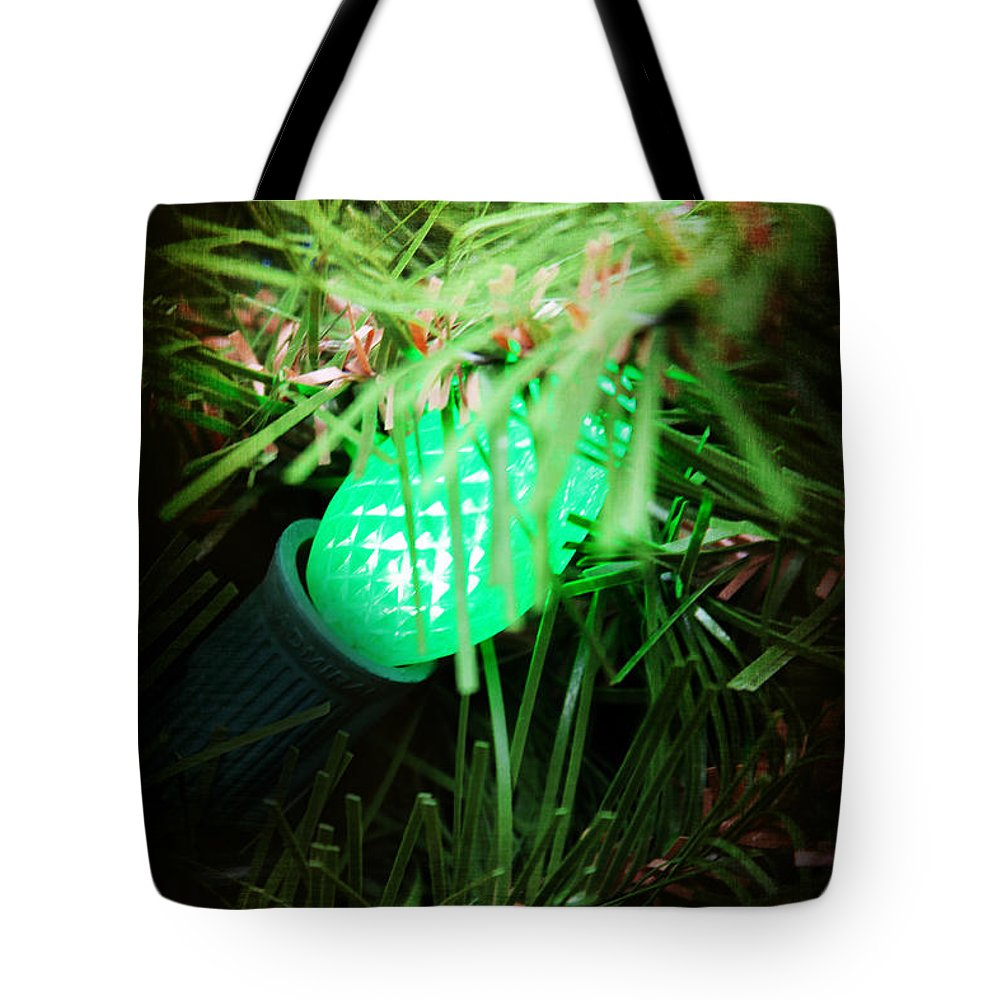 Christmas Tote Bag featuring the photograph Green Light by Robin Lewis