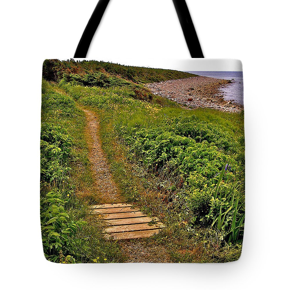 Lobster Cove From Green Point Coastal Trail In Gros Morne Np Tote Bag featuring the photograph Green Point Coastal Trail In Gros Morne Np-nl by Ruth Hager