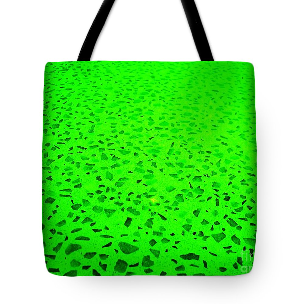 Green Abstract Tote Bag featuring the photograph Green Representational Abstract by Eric Schiabor