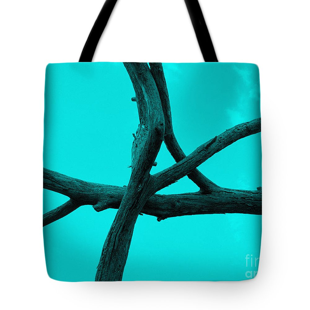 Tree Tote Bag featuring the photograph Green Tree Branch Art by Tina M Wenger