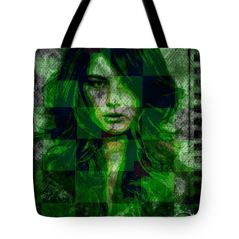 Envy Tote Bag featuring the digital art Green With Envy by Absinthe Art By Michelle LeAnn Scott