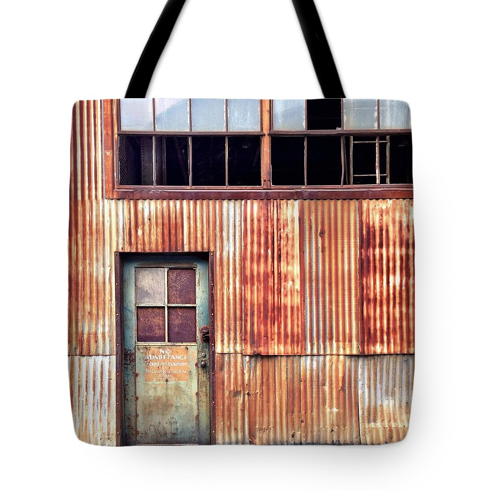 Rust Tote Bag featuring the photograph Green With Rust by Julie Gebhardt