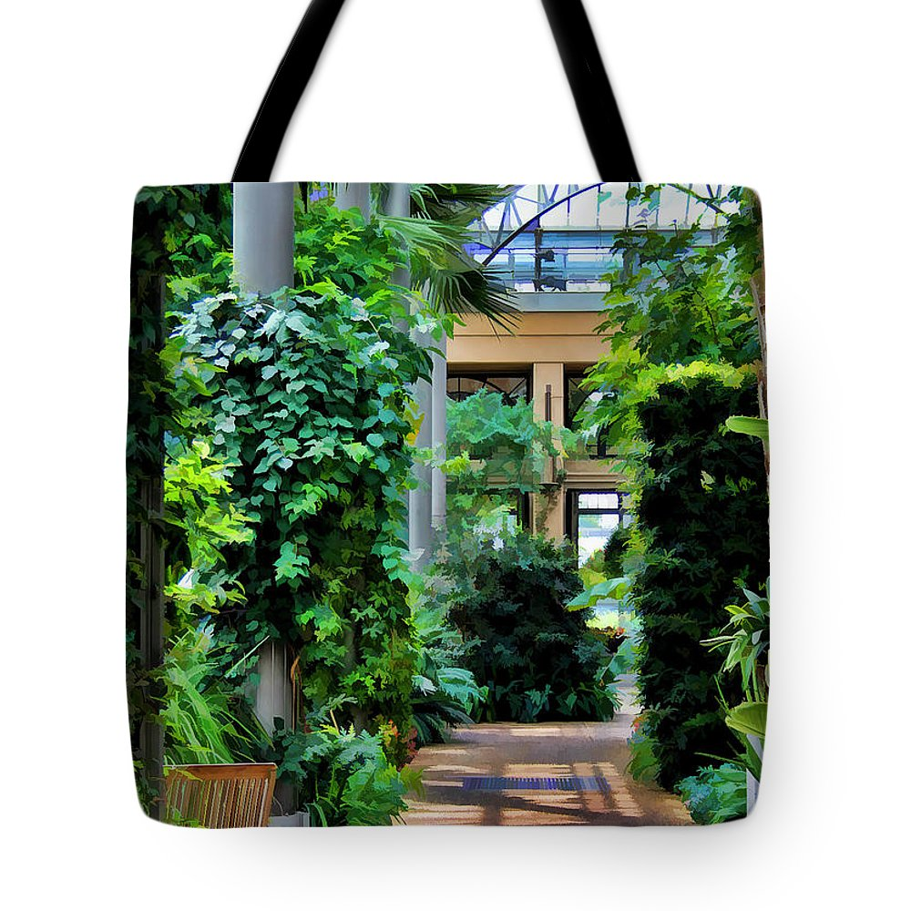 Scenic Tote Bag featuring the photograph Greenery by Joyce Baldassarre