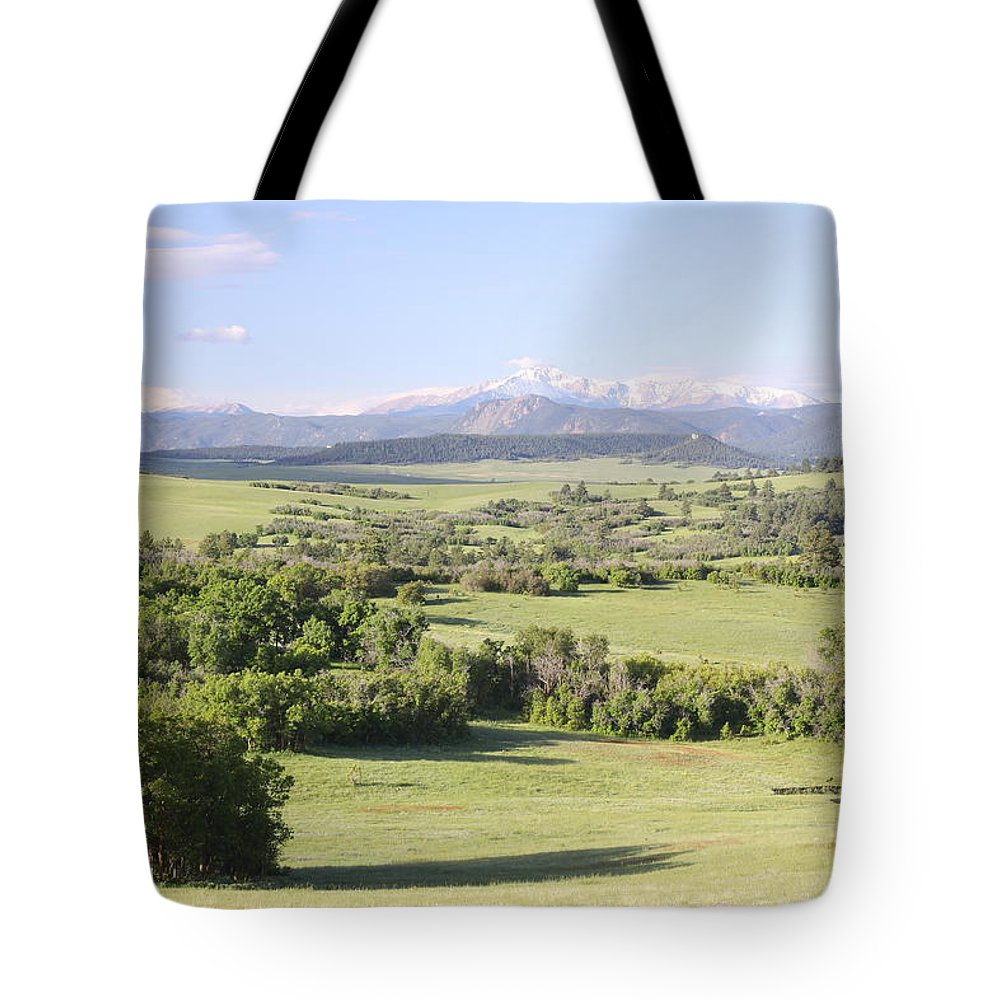 Colorado Tote Bag featuring the photograph Greenland Ranch by Eric Glaser