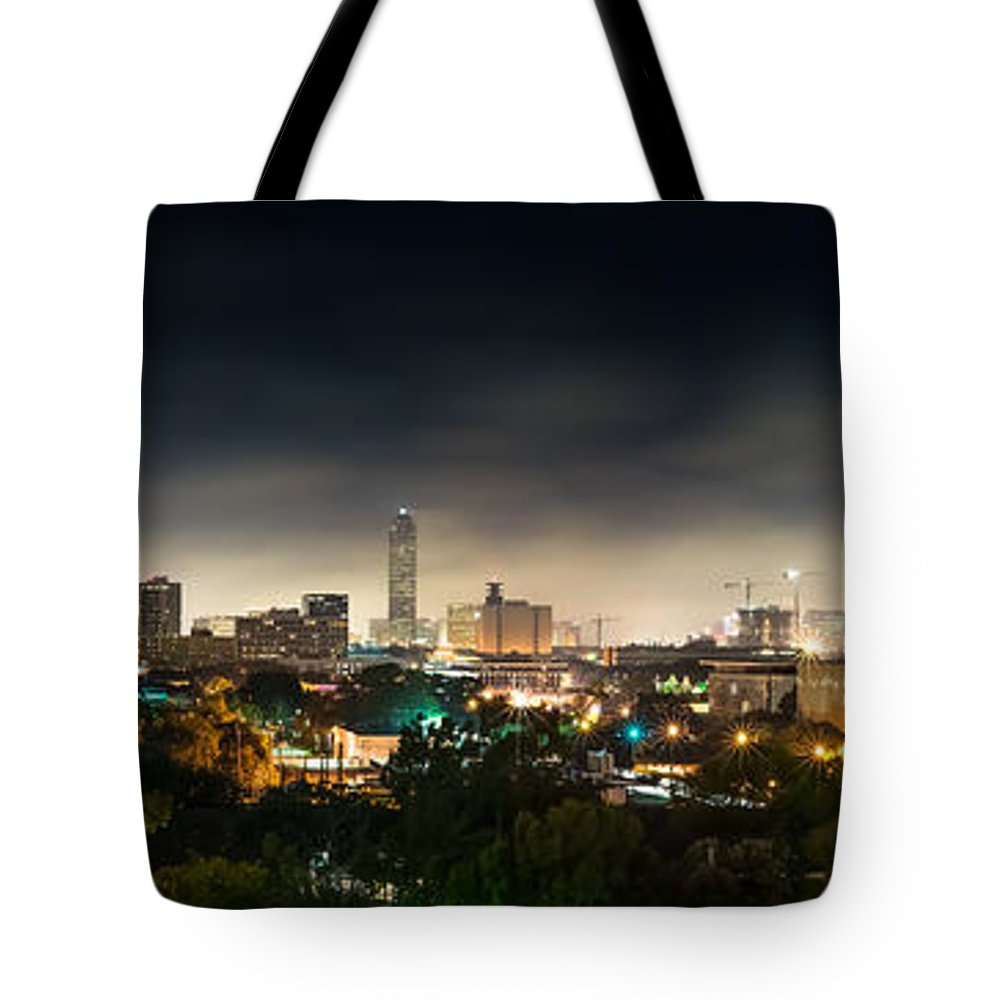 Houston Tote Bag featuring the photograph Greenway Plaza And The Galleria by David Morefield