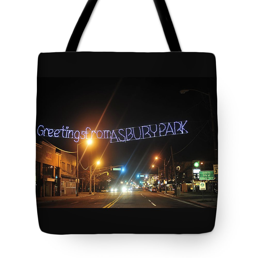 Greetings From Asbury Park Tote Bag For Sale By Terry Deluco
