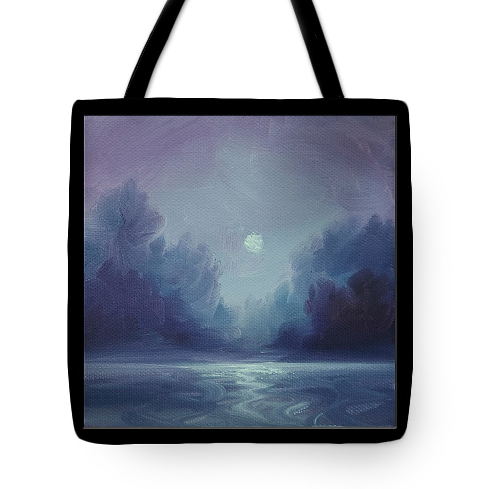 Sunrise Tote Bag featuring the painting Grey Fire V by James Christopher Hill