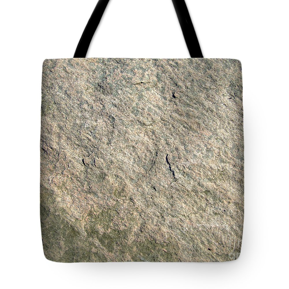 Abstract Tote Bag featuring the photograph Grey Rock Texture by Antony McAulay