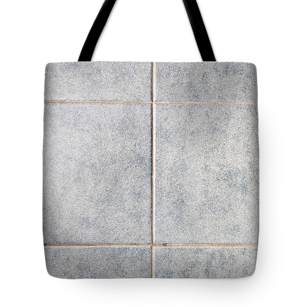 Background Tote Bag featuring the photograph Grey Tiles by Tom Gowanlock