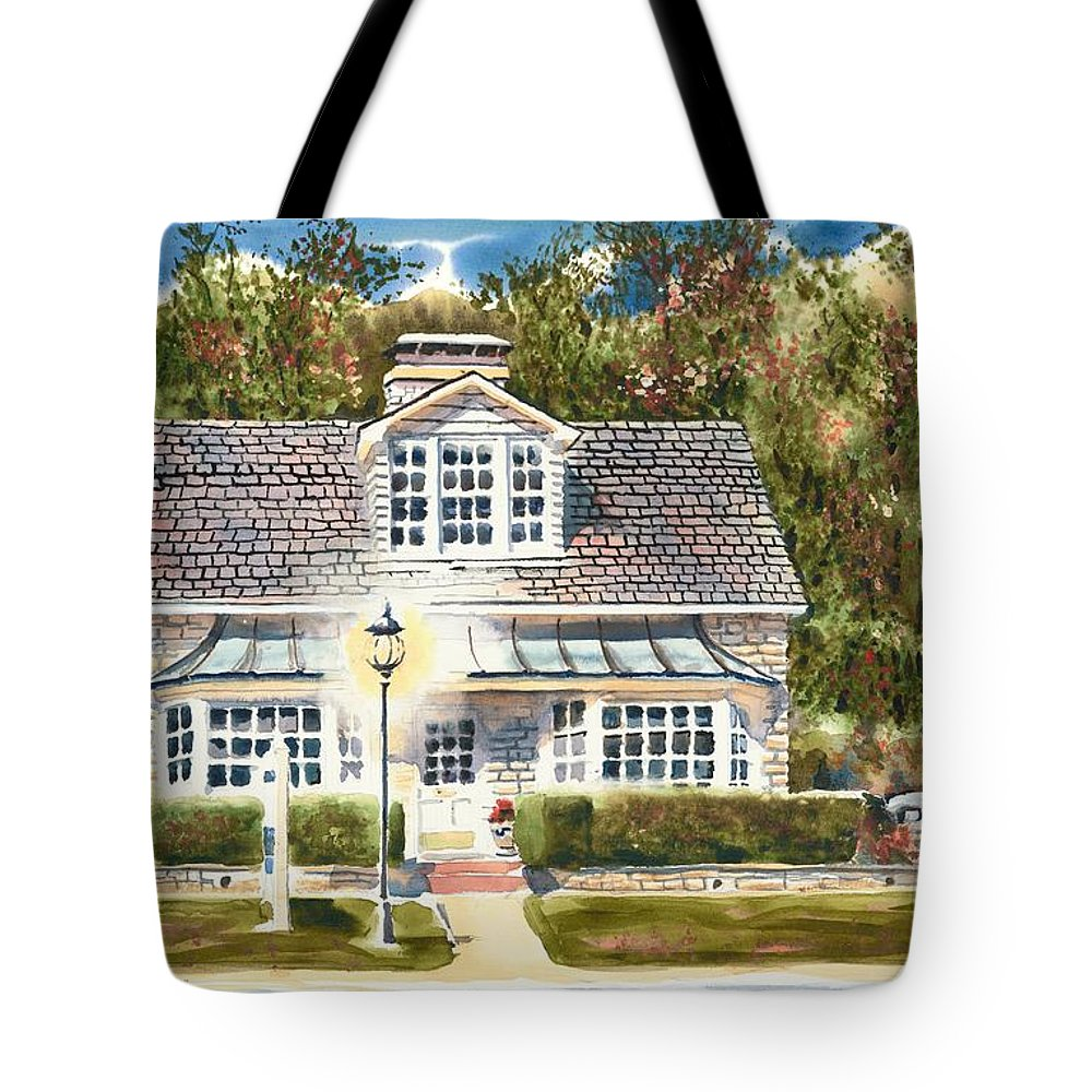 Greystone Inn Ii Tote Bag featuring the painting Greystone Inn II by Kip DeVore