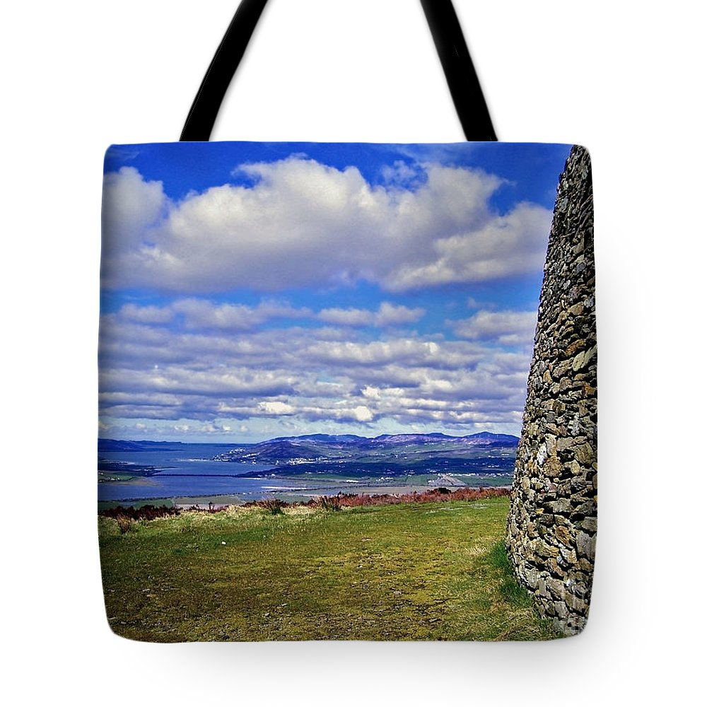 Grianan Of Aileach Tote Bag featuring the photograph Grianan Of Aileach View by Nina Ficur Feenan