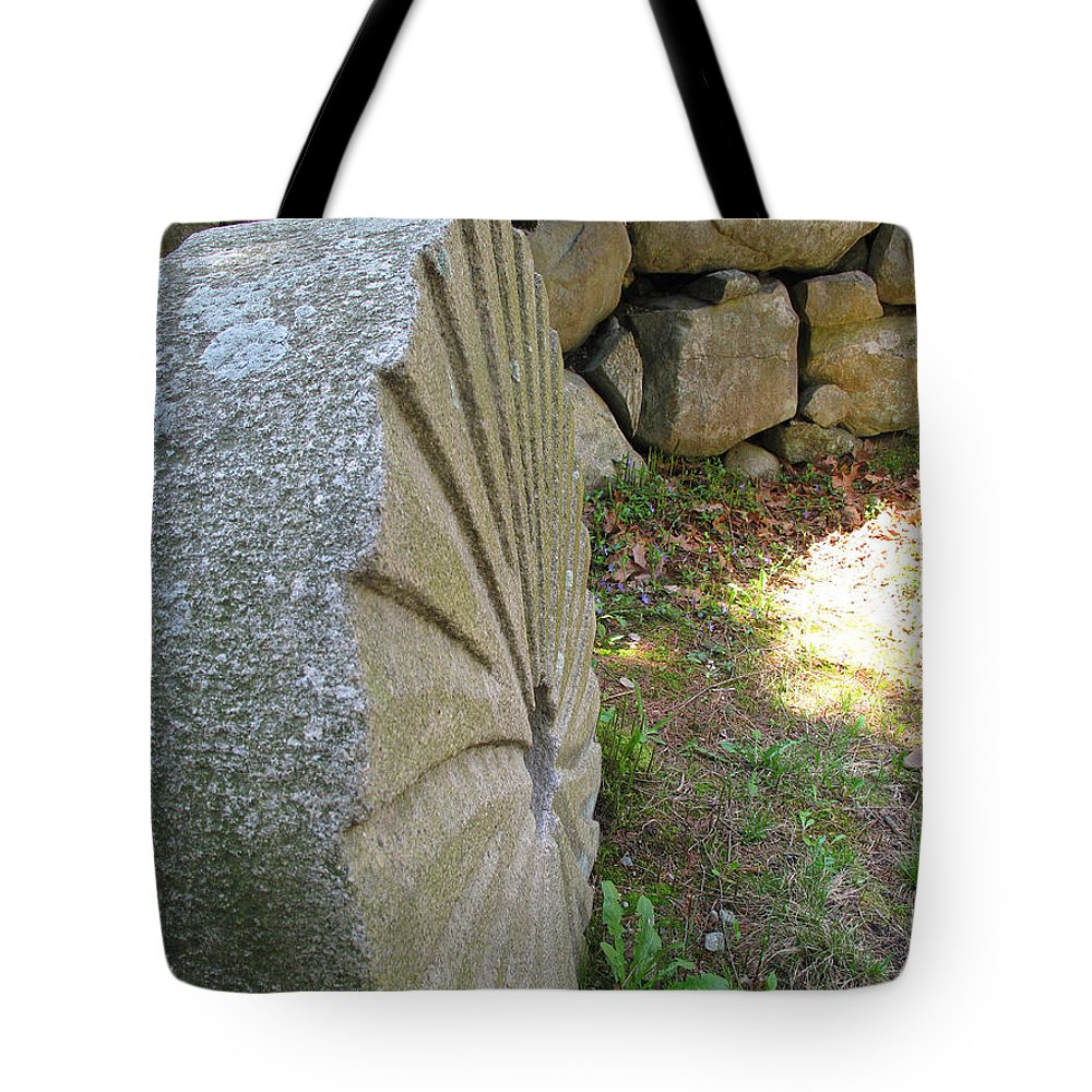 Mill Stone Tote Bag featuring the photograph Grinding Stone by Barbara McDevitt