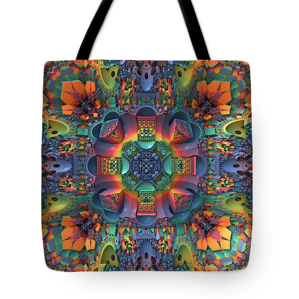 Fractal Tote Bag featuring the digital art Groovy Baby by Lyle Hatch