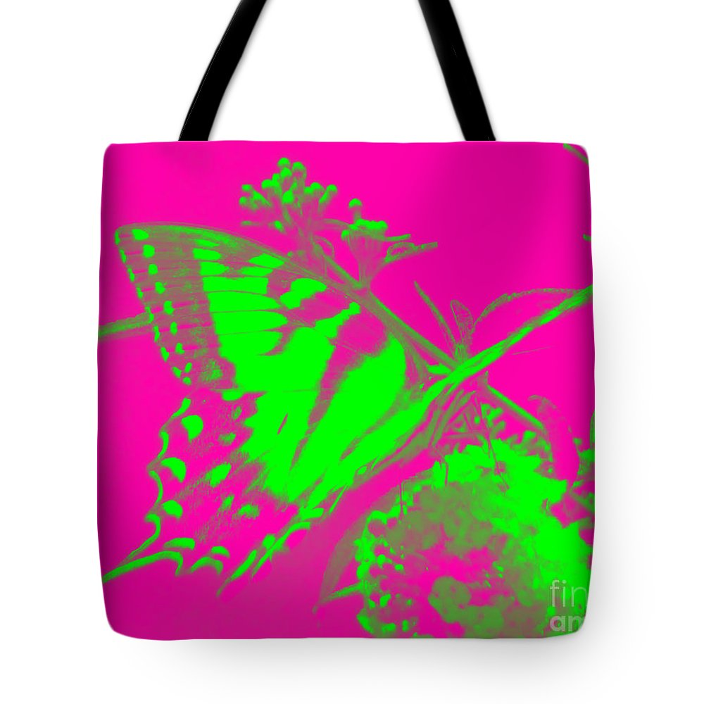 Butterfly Tote Bag featuring the photograph Groovy Butterfly by Jean Wright
