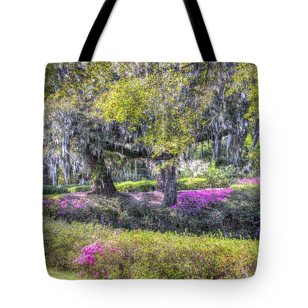 Azalea Tote Bag featuring the photograph Grounds Of Middleton by Dale Powell