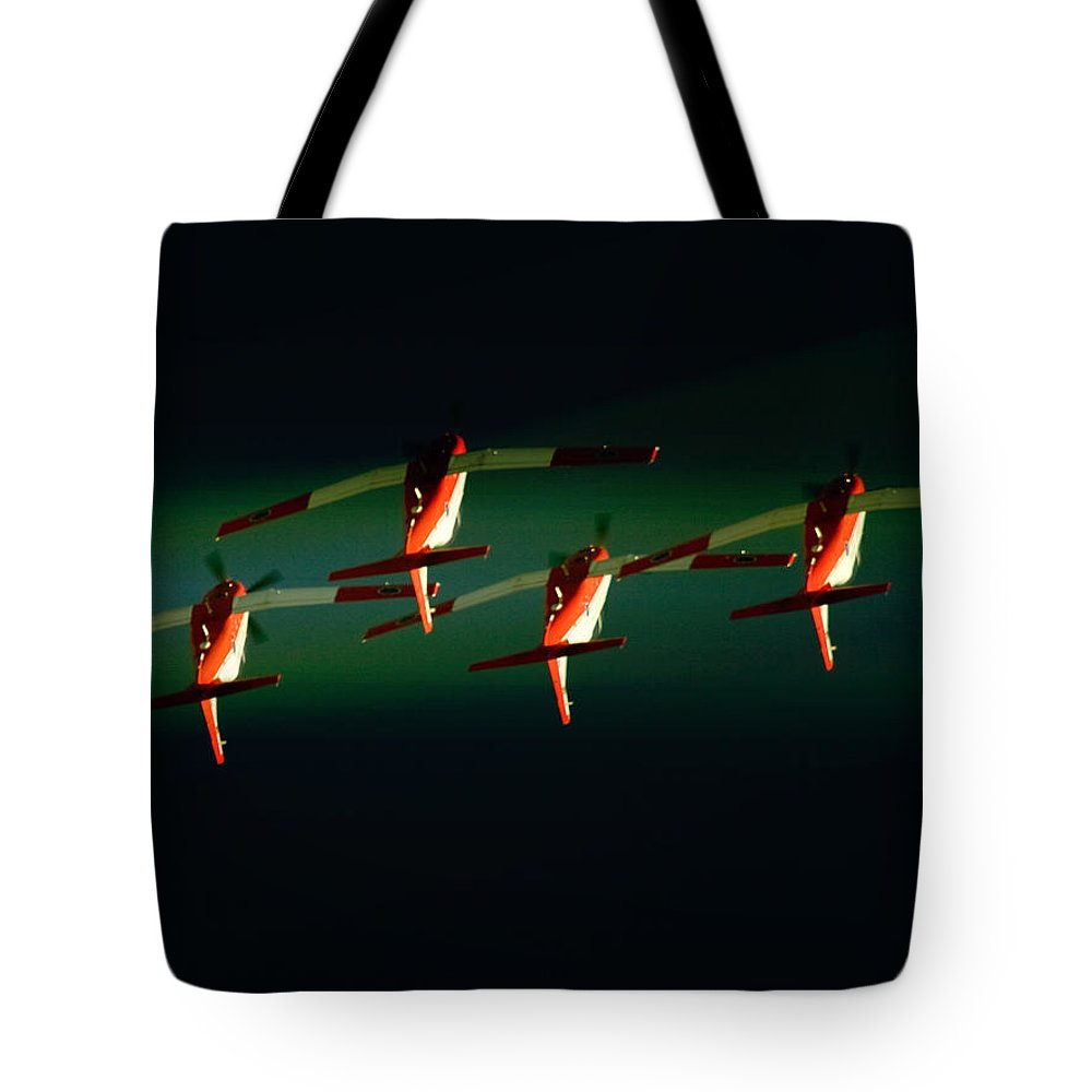 Pilatus Pc-7 Mk Ii Astra Tote Bag featuring the photograph Group Loop by Paul Job