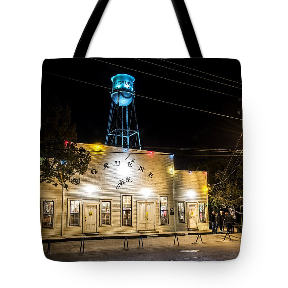1878 Tote Bag featuring the photograph Gruene Hall by Andy Crawford