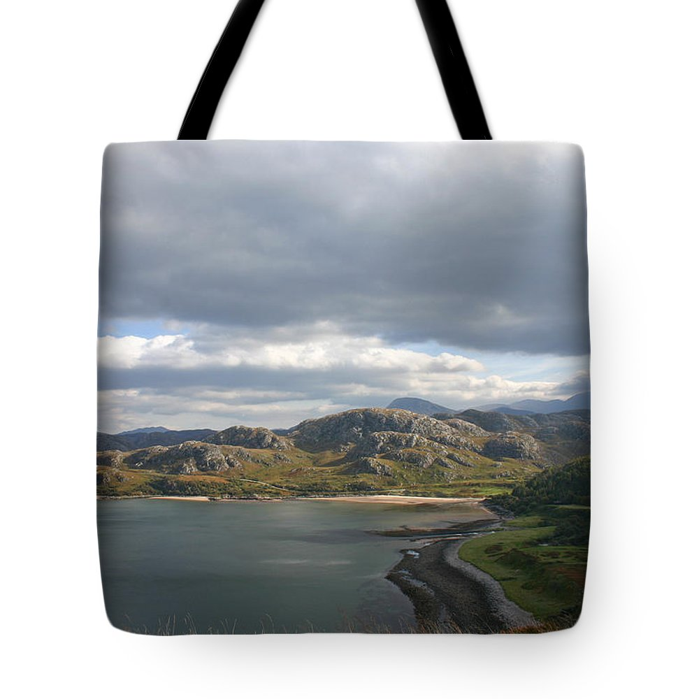 Gruinard Tote Bag featuring the photograph Gruinard Bay by Fraser McCulloch
