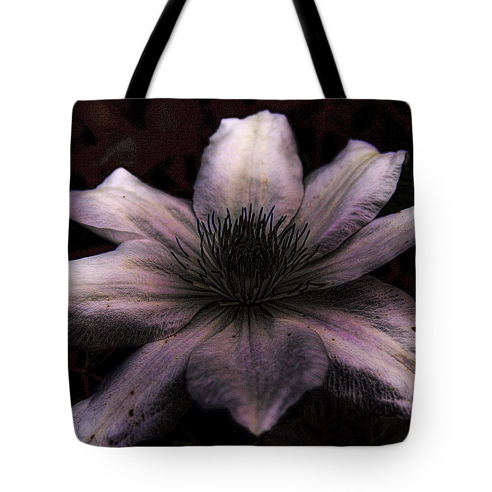 Flower Tote Bag featuring the photograph Grungy Clamatis by David Patterson