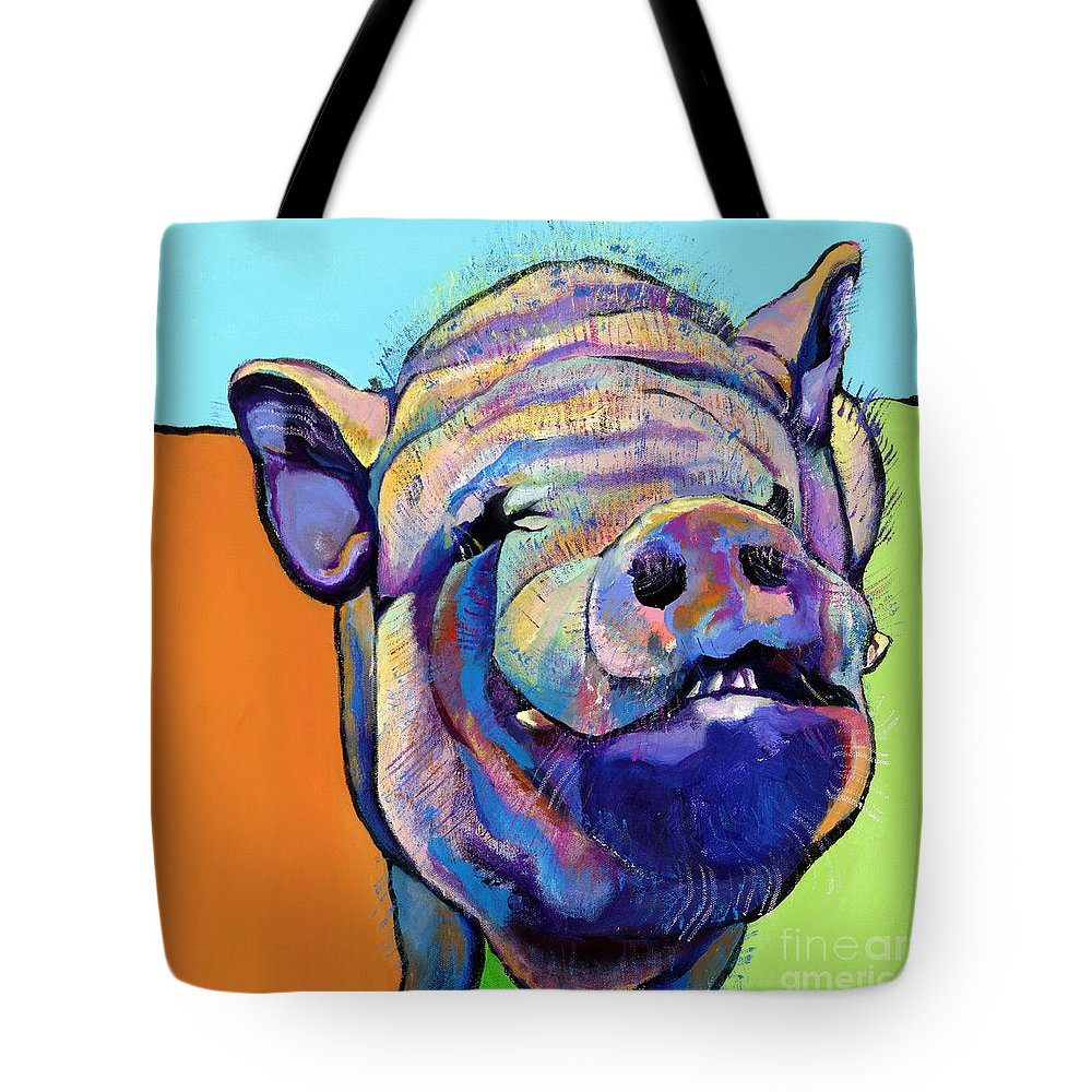 Pat Saunders-white Canvas Prints Tote Bag featuring the painting Grunt  by Pat Saunders-White