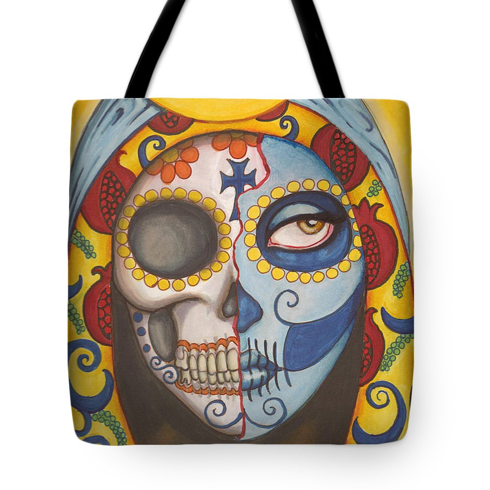 Day Of The Dead Tote Bag featuring the painting Guadalupe by Shayne of the Dead
